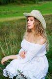 Beautiful woman on nature Stock Image