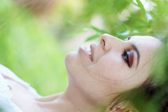 Beautiful woman in nature Royalty Free Stock Images