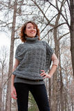 Beautiful woman on nature Stock Photography