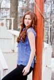 Beautiful woman on nature Stock Photo