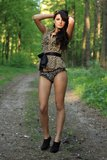 Beautiful woman in nature Royalty Free Stock Photo