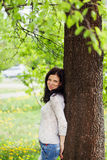 Beautiful woman in the nature and fresh air. Royalty Free Stock Photo