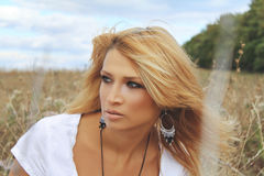 Beautiful woman in nature Royalty Free Stock Photography