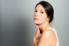 Beautiful woman with a neutral expression Royalty Free Stock Photo