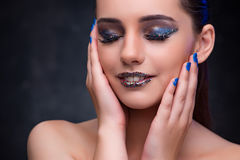 The beautiful woman with nice make-up Royalty Free Stock Images