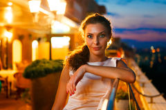 Beautiful woman on night party Stock Image