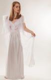 Beautiful Woman in Nightgown Stock Photo