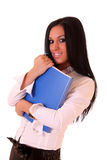 Beautiful woman in office Royalty Free Stock Images