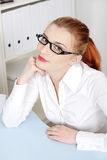 Beautiful woman in office. Royalty Free Stock Photo