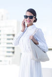 Beautiful woman oh the phone Royalty Free Stock Photos