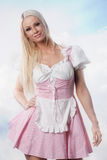 Beautiful woman in oktoberfest dirndl Royalty Free Stock Images