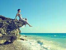 Free Beautiful Woman On Beach Royalty Free Stock Photos - 21523218