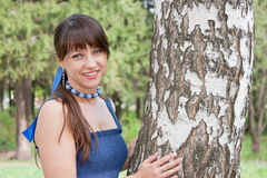 Free Beautiful Woman On Nature Near A Birch Royalty Free Stock Photography - 25611397