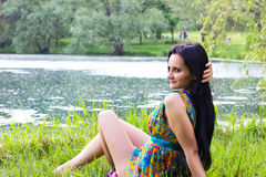 Beautiful woman outdoor Stock Images