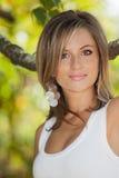 Beautiful woman outdoor Royalty Free Stock Photos