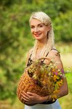 Beautiful woman outdoor Stock Photography