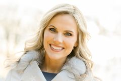 Beautiful Woman Outdoor Portrait Royalty Free Stock Photo