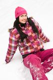 Beautiful woman outdoor in winter Stock Photography