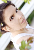 Beautiful woman outdoors Royalty Free Stock Image