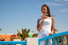A beautiful woman outdoors Royalty Free Stock Photography