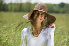 Beautiful Woman Outdoors Royalty Free Stock Image