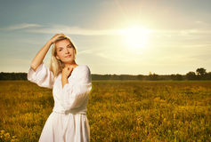 Beautiful woman outdoors Stock Image