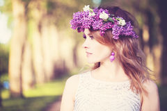 Beautiful Woman Outdoors. Beauty Summer Girl Stock Photo