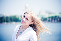 Beautiful woman outdoors portrait Royalty Free Stock Image