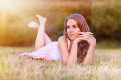 Beautiful woman outside Royalty Free Stock Images