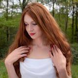 Beautiful Woman Outside Stock Photography