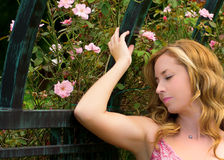 Beautiful Woman Outside Royalty Free Stock Photography