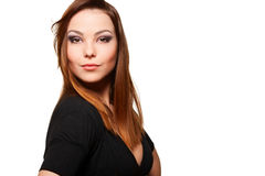 Beautiful woman over white background Stock Photography