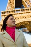 Beautiful woman in Paris Royalty Free Stock Photography