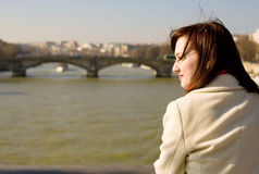 Beautiful woman in Paris Royalty Free Stock Photos