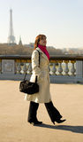 Beautiful woman in Paris Royalty Free Stock Images