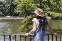 Beautiful woman in the park Royalty Free Stock Photography