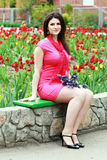 Beautiful woman in the park Royalty Free Stock Photos