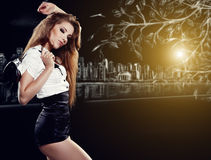 Beautiful woman after party Stock Images