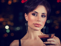 Beautiful woman on the party Royalty Free Stock Image