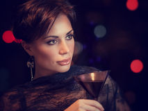 Beautiful woman on the party Stock Photography