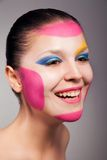 Beautiful woman with perfect art make up Royalty Free Stock Images