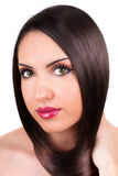 Beautiful woman with perfect hairs Royalty Free Stock Photos