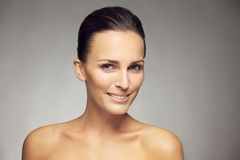Beautiful woman with perfect healthy skin Stock Photos