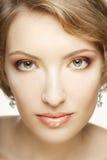 Beautiful woman with perfect makeup. Stock Photos