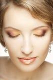 Beautiful woman with perfect makeup. Stock Photography