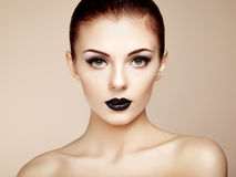 Beautiful woman with perfect makeup. Beauty portrait. Fashion photo Stock Image