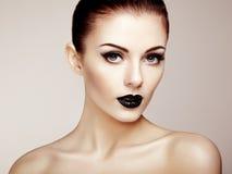 Beautiful woman with perfect makeup. Beauty portrait. Fashion photo Stock Photo