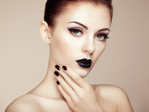Beautiful woman with perfect makeup. Beauty portrait. Fashion photo Royalty Free Stock Photos