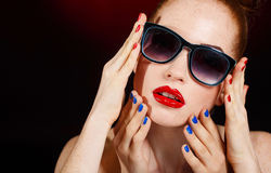Beautiful woman with perfect makeup. Royalty Free Stock Images