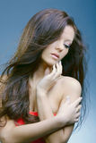 Beautiful woman with perfect skin Royalty Free Stock Photography